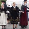 En costume de Vannes avec tablier velours brodé