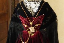 Bavette de tablier vannetais gallo avec chaine chatelaine