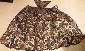 Costume du morbihan tablier de baud type richelieu annees 40 50