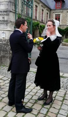 Couple en costumes de Melrand et Moreac