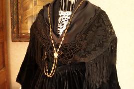 Haut de costume vannetais piecette velours brode