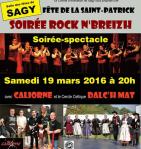 Affiche du spectacle de danse et musique bretonnes