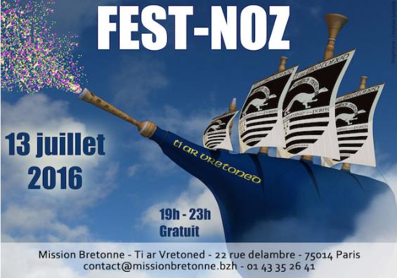 Affiche du Fest-noz de la Mission bretonne