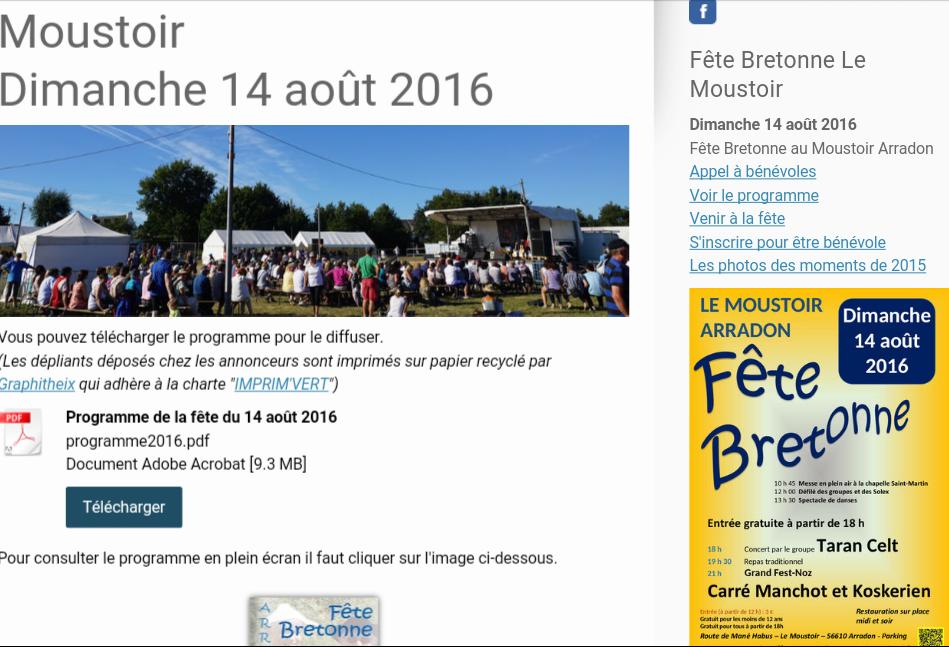 Fête  bretonne au Moustoir