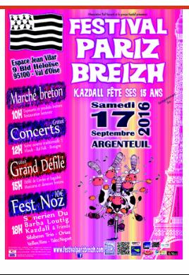 Affiche festival Paris-Breizh