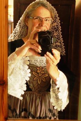 Selfie en costume de Baud des annees 40