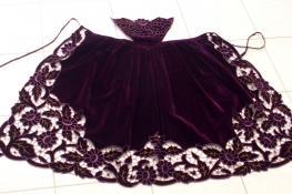 Un tablier richelieu violet de toute beaute 1